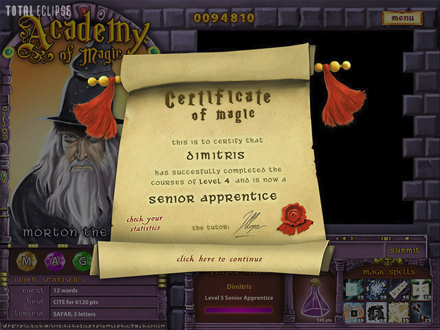 Academy of Magic: Word Spells - RPG Reviews on the PC, PS2, PS3 ...